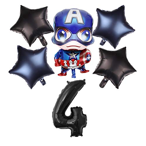 XINGYAO Balloon Spiderman iron Man Batman Foil Balloons Super Hero Birthday number Party Decoration Supplies Children's Gifts Air Toys party (Color : 14)