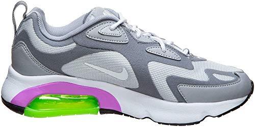 Nike Damen Air Max 200 Knöchelhohe Sneaker, Weiá (Pure Platinum/White-cool Grauwolf Grau), 36 EU