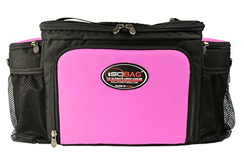 Isobag 6 Mahlzeiten Management System Pink/Schwarz - Isolierte Mahlzeiten-Kühltasche - Isolator Fitness