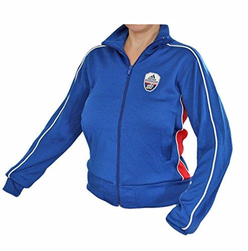 adidas Linear Track Top Jacke Sportjacke Damen blau-rot NEU