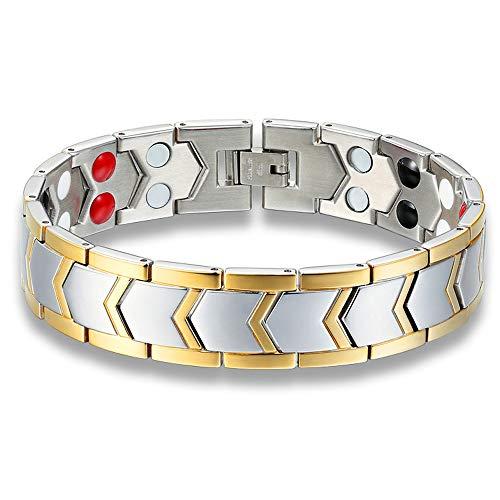 Faithvhk Magnetic Bracelet, Titanium Steel Magnetic Folding Clasp Powerful Magnets, Give Women/Men The Best Gift, Christmas Surprise