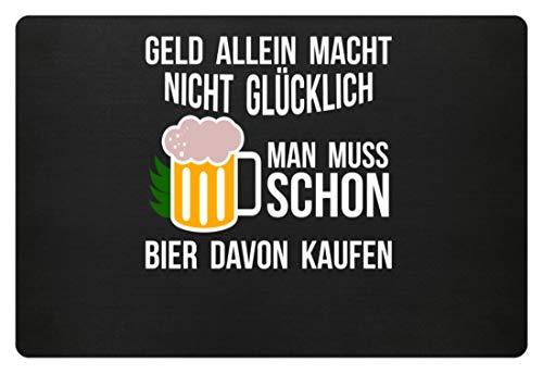 Geld alleen maakt niet gelukkig, men moet er al bier van kopen - grappig design - deurmat