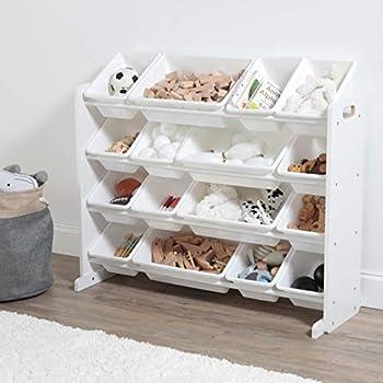 Humble Crew Extra-Large Toy Organizer 16 Storage Bins White/White
