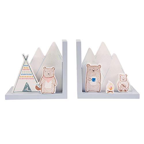 Bücherstützen für Kinder im Gebirgsbärenlager-Stil.