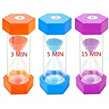 Sand Timer 3/5/15 Minutes Hourglass Timer:...