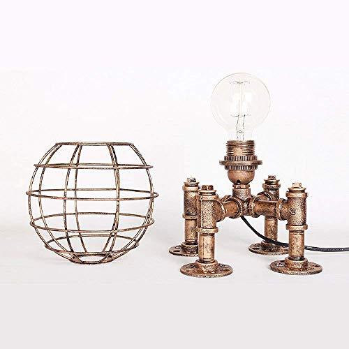 Lámpara de dormitorio Mesa industrial lámpara de mesa lámpara steampunk ático retro lámpara de lectura lámpara de mesa de edad creativa personalidad bar restaurante...