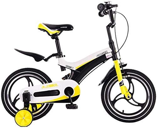 Xiaoyue Fahrräder for Kinder im Freien Fahrrad Park Kinder-Fahrrad Indoor Spiel Fahrrad Reise Sommer Pram Kinderfahrzeug Tricycle (Farbe: Gelb, Größe: 12 Zoll) lalay (Color : Yellow, Size : 14inches)