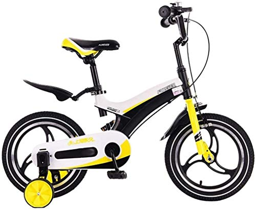 Xiaoyue Fahrräder for Kinder im Freien Fahrrad Park Kinder-Fahrrad Indoor Spiel Fahrrad Reise Sommer Pram Kinderfahrzeug Tricycle (Farbe: Gelb, Größe: 12 Zoll) lalay (Color : Yellow, Size : 12inches)
