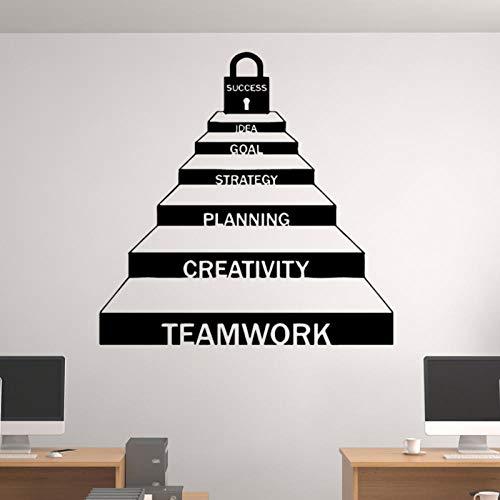 kldfig Decoración de escalera de carrera de cooperación de trabajo en equipo exquisita para pegatinas de oficina Decoración del hogar extraíble-58 * 58 cm