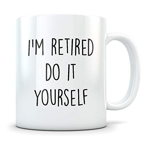 Lplpol Taza de café regalos de jubilación, taza de jubilación, regalos divertidos de jubilación, regalos de jubilación, regalo de mordaza de jubilación, taza jubilada, retirada, Do It Yourself 11 oz