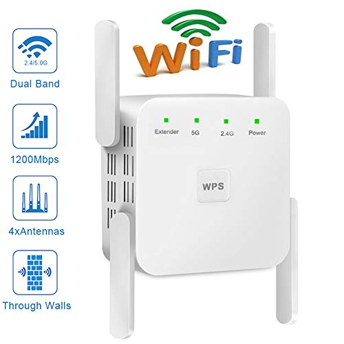 JZH-Light WLAN Repeater 1200Mbit/S Verstärker Wi-Fi Range Extender Wi-Fi Range Extender Wireless Access Point WLAN Router Mit 4 Flexible Externe Antennen