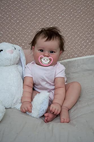 iCradle Lovely Real Look Reborn Baby Doll Girl 20inch 50cm Silicone Baby Doll Realistic Newborn Doll Toy for Ages 3+