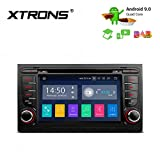XTRONS 7' Android9.0 Autoradio mit Touchscreen Quad Core DVD Player Autostereo Full RCA 4G Bluetooth5.0 2GB RAM 16GB ROM DAB & OBD2 Car Auto Play TPMS FÜR Audi A4/S4/RS4/SEAT Exeo
