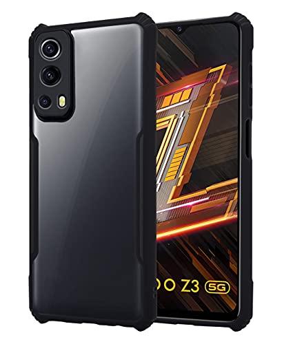 Pikkme IQOO Z3 5G Back Cover Shockproof Bumper Clear Transparent Case