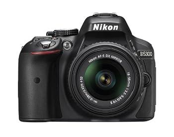 Nikon D5300 24.2 MP CMOS Digital SLR Camera with 18-55mm f/3.5-5.6G ED VR Auto Focus-S DX NIKKOR Zoom Lens  Black