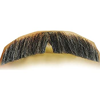 M2 Downturn Mustache Color LT Brown - Lacey Wigs Human Hair Lace Backed Hand Made Burt Reynolds Fake Facial Bundle Costume Wig Care Guide