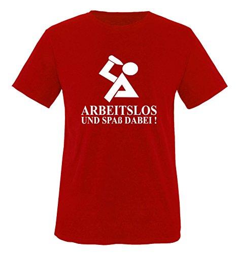 M&M-Shirts Chômage et conviviales dABEI. t-Shirt pour Homme Taille s à XXL Rouge Rouge Taille XXL
