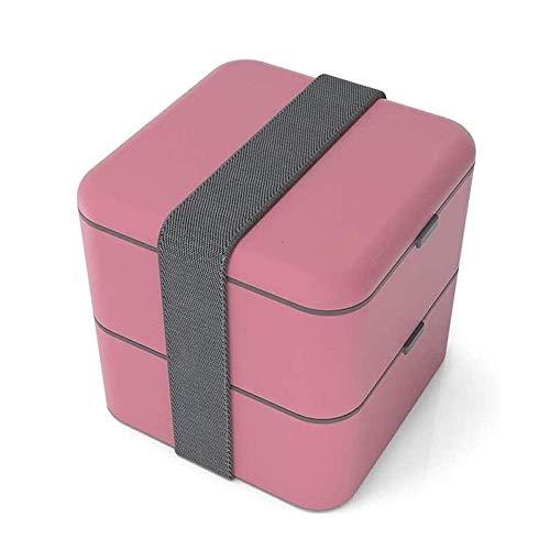 Caja de almuerzo Bento Bleno, caja de almuerzo a prueba de fugas para mujeres, hombres y niños, caja de bento caja de almuerzo contenedores a prueba de fugas, chutlery reutilizable estilo japonés para