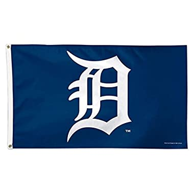 MLB Detroit Tigers 01775115 Deluxe Flag, 3' x 5'