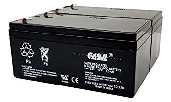 2 Pack 12v 3.3ah Replacement Battery RBC35 RBC47 for APC Back UPS ES 350 350VA BE350G BE350T BE350U