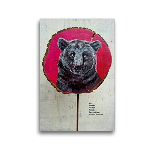 CALVENDO Lienzo Premium de 30 cm x 45 cm de Alto, el Oso Fuerte Imagen sobre Bastidor, Listo en Lienzo, impresión en Lienzo (calvento Animal) Animales