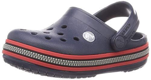 Crocs Crocband Zipper Band Clog Kids, Obstrucción Unisex Niños, Azul Marino/Rojo, 30/31 EU