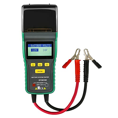 AOKUO Probador de batería de automóviles de 12V, analizador de Corrector de detección precisa, se aplican a Todos los Autos analizador de baterías