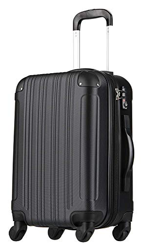 拡張ジッパースーツケース TSAロック 33リットル ブラック