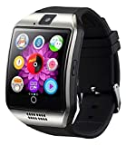 HOPEMOB Smartwatch Q18 Curvo Reloj Celular Inteligente Android Sim (Plata)