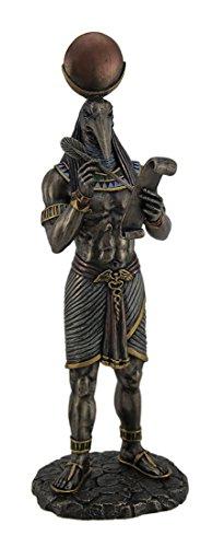 Harz Statuen wu77177a4Thoth Ägyptische Gott der Schreiben und Weisheit mit Papyrus Statue 9,5x 27,9x 7,6cm Bronze