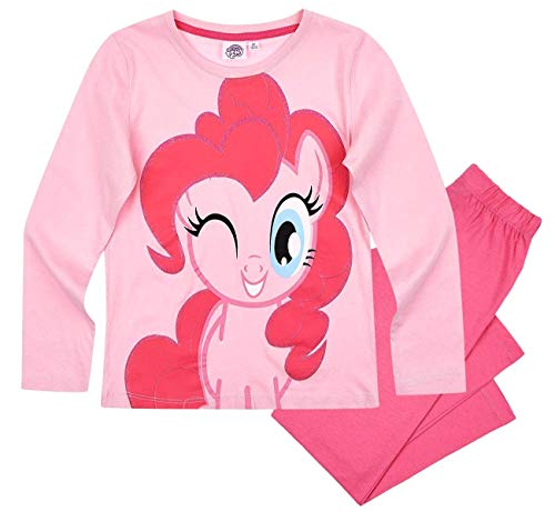 Pony My Little Schlafanzug Mädchen Lang Rundhalsausschnitt (Rosa, 98-104)