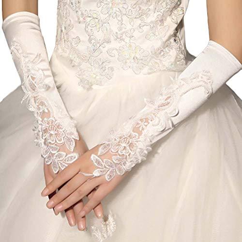 Gants de mariée mariage robe de soirée dentelle longs gants A13