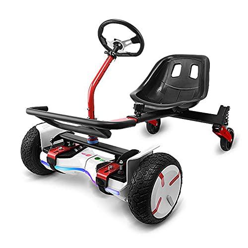 OMKMNOE Coches De Suspensión Ajustables, para Scooters Auto-Equivalentes, Accesorios De Asiento De Gokart para Transformar El Rodillo De Hoverboard A Un Kart,Negro