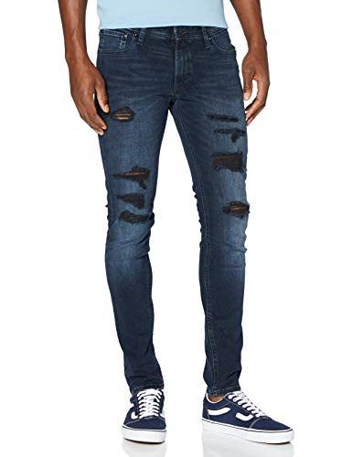 JACK & JONES Herren JJILIAM JJORIGINAL AGI 206 TC320 Hose, Blue Denim, 36/32