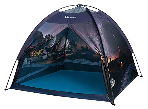 Exqline Space Kids Play Tent Children Galaxy Dome Playhouse Portable Astronaut Space Theme Play Tent for Boys Girls Indoor and Outdoor Playing and Camping Tent, Gift for Kids - 47 x 47 x 43inch