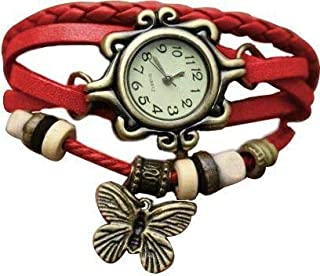 Fashion vintage table ladies watch women's watch fashion decoration table bracelet watch female(Red)