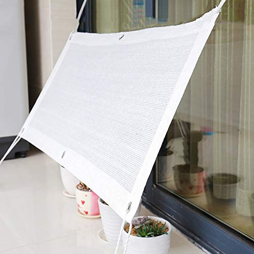 LXLA 80% Shade Cloth Mesh Shade with Grommets, UV Resistant White Sun Mesh Shade for Garden Cover Flowers Plants (Size : 2m x 3m)