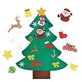INTVN Árbol de Navidad de Fieltro, Bricolaje árbol de Navidad de Fieltro con 26 Adornos Desmontables...