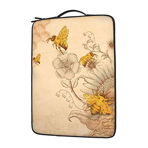 Honey Bees Laptop Sleeve Case with Handle Laptop Case 14 Inch Notebook Computer Protective Case