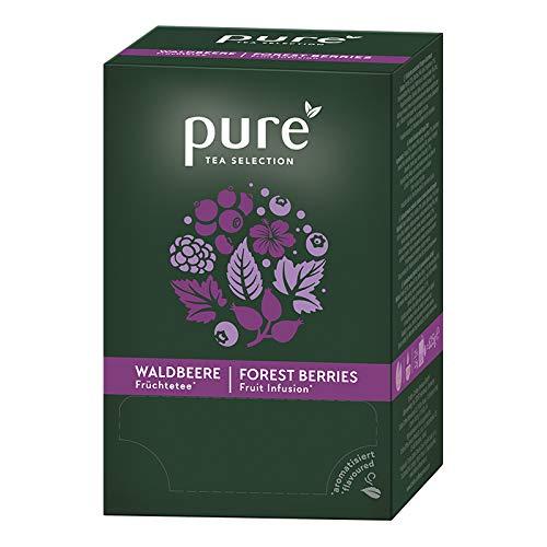 Pure Tea Selection Waldbeere   Früchtetee   25 Teebeutel aus Maisstärke gewebt und industriell kompostierbar   25 x 3,5g