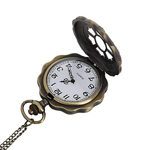 NOBRAND Reloj de bolsillo, el mejor reloj de bolsillo, collar para abuelo, regalos de padre, 2018 nuevo patrón para hombres y mujeres, reloj de bolsillo de cuarzo