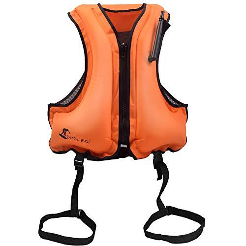 YAOQI Unisex Chaleco de Flotación Inflable Portátil Adulto, Chaleco de Nadada, Ayuda de la Nadada, Snorkeling, Chaleco de Pesca, Natación
