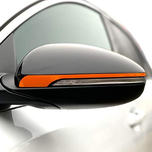 P057 Seitenstreifen Spiegel   Auto   Spiegelaufkleber   Aufkleber   Streifen   Oracal 751C (Pastellorange, Variante 1)