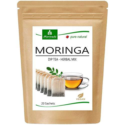 Thé Moringa 100% naturel et végétalien (en...