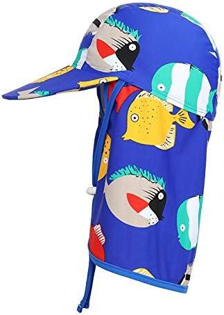 Sunarra Kids' Quick Dry Surf Cap with Neck Flap Sun Protection Swim Beach Hat