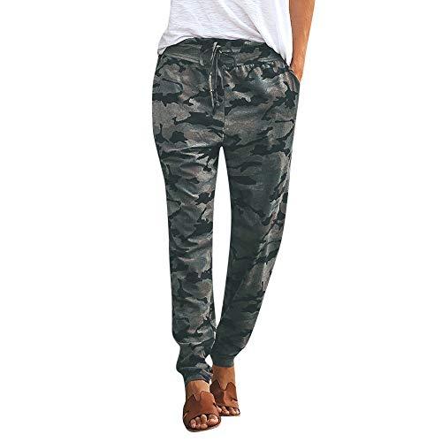 Sylar Pantalones Camuflaje Mujer Invierno Clásico Slim Fit Bolsillo Pantalones Casuales Deportivos Cómodo Pantalones Lápiz Rectos Pantalones De Yoga
