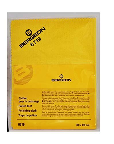 Bergeon 6719 Chiffon de polissage imprégné pour or et argent