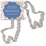 Ann Clark Cookie Cutters 2-Piece Llama Alpaca Cookie Cutter Set with Recipe Booklet