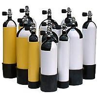 METALSUB Botella Buceo 15 litros 232 Bar, Faber, con Culote y Grifo, año 2020. (Grifo 1 Salida)