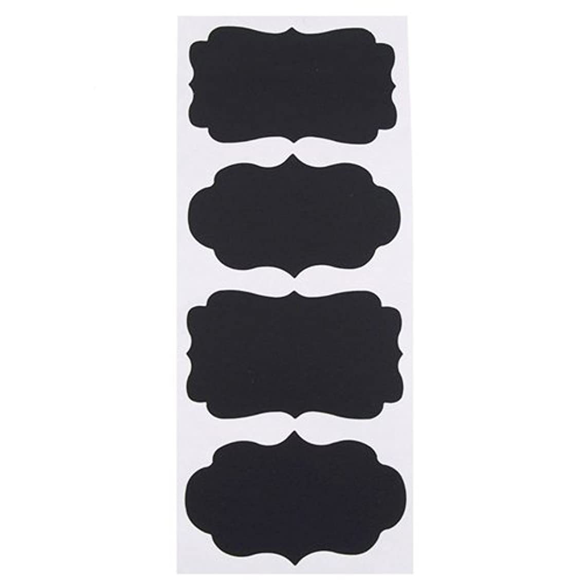 Homeford Firefly Imports Chalkboard Label Stickers, Scalloped, Large, 3-Inch, 4-Pack 3